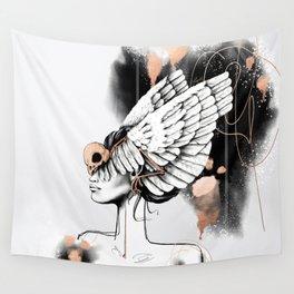 Bird of Minerva Wall Tapestry