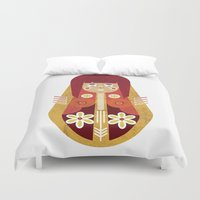 doll Duvet Covers featuring Doll by Roxie Emm