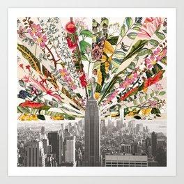 Vintage Blooming New York Art Print