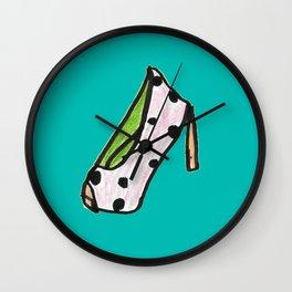 high heel -polka dot- Wall Clock