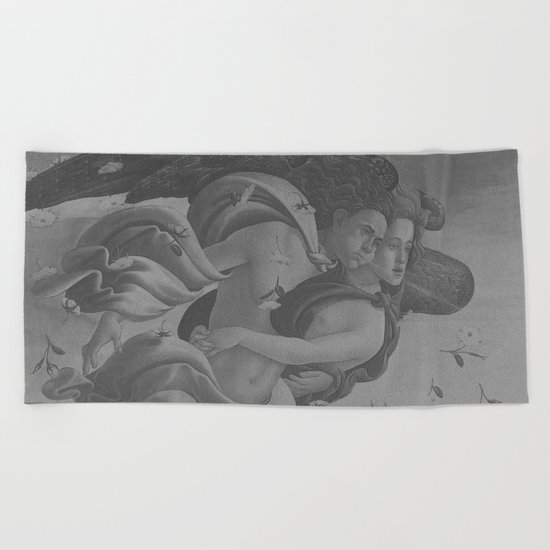 Black White Angels Beach Towel
