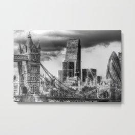 Tower Bridge And The City Metal Print