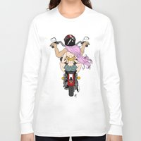 harley Long Sleeve T-shirts featuring Harley by Natalie Easton