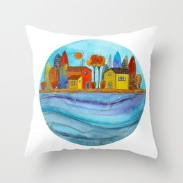 Colorful forest II Throw Pillow