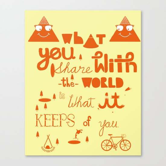 keeps of you Canvas Print