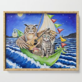 The Owl and the Pussycat Serving Tray
