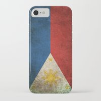 philippines iPhone & iPod Cases featuring Old and Worn Distressed Vintage Flag of Philippines by Jeff Bartels