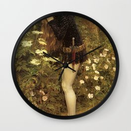 Eleanor Fortescue-Brickdale - The Little Foot Page Wall Clock
