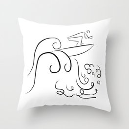 Surf Uncertainty Throw Pillow
