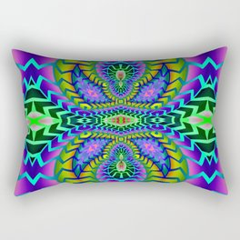 Tribal Rainbow Lotus Rectangular Pillow