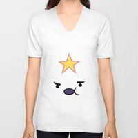 lumpy space princess V-neck T-shirts featuring Lumpy princess by OverClocked