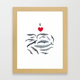 I love whales design Framed Art Print