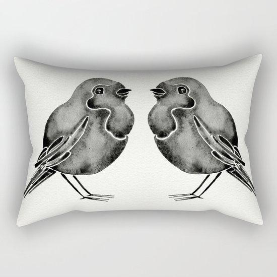 Little Blackbirds Rectangular Pillow