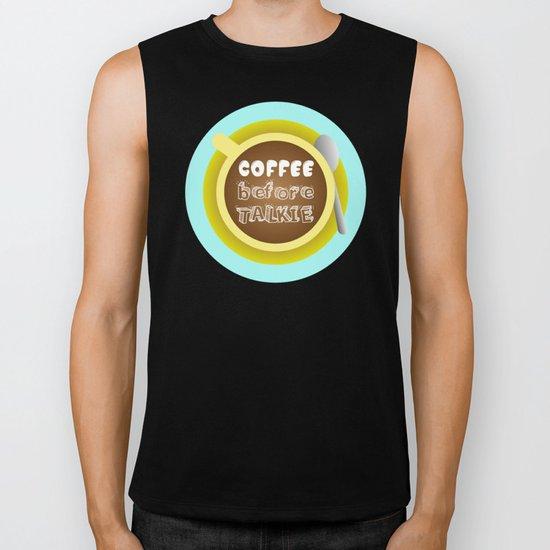 CoffeeBeforeTalkie Biker Tank