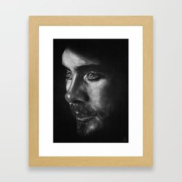 Staring at the moonlight Framed Art Print