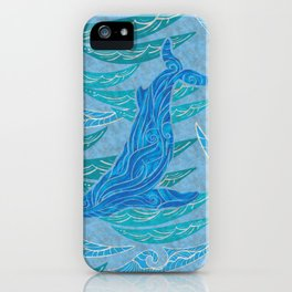 Watercolor Whale Dive iPhone Case