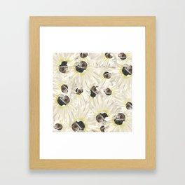 Citrine White Floral Framed Art Print
