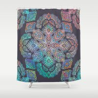 boho Shower Curtains featuring Boho Intense by micklyn