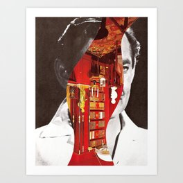 Obscured Face Art Print