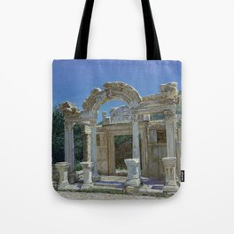 Ephesus. Ruins. Temple of Hadrian Tote Bag