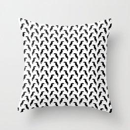 Toucan birds silhouettes pattern Throw Pillow