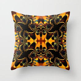 Modern Batik : Geometric Patterns Throw Pillow