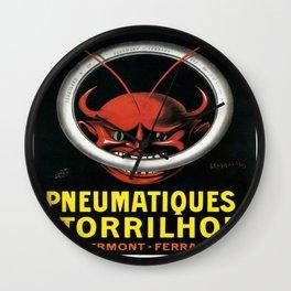 Vintage poster - Pneumatiques Torrilhon Wall Clock
