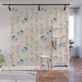 Floral romantic pattern Wall Mural