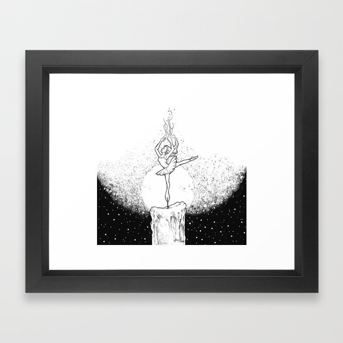 Burning Bright Framed Art Print