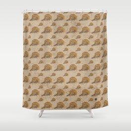 Swirly Leopard Shower Curtain