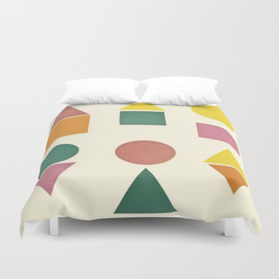 Shape Sorter Duvet Cover