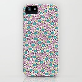 Ditsy Flora Green and Rose iPhone Case