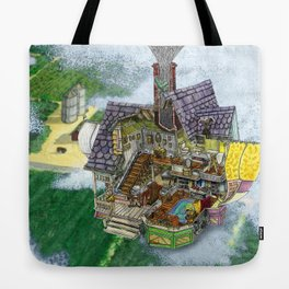 Up - Carl's House Cross-Section Tote Bag