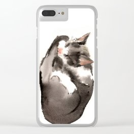 Cat, Sleeping Beauty Clear iPhone Case