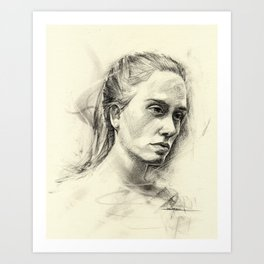 Young woman Art Print