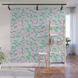 Throw in the line pattern Wall Mural
