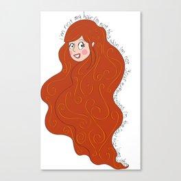 I'm not my hair! Canvas Print