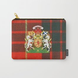 RED & GREEN CAMERON TARTAN ROYAL SCOTLAND Carry-All Pouch