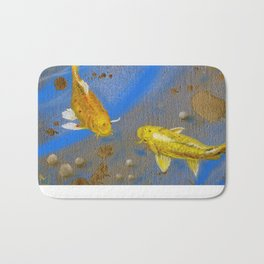 Pair of Golden Koi Bath Mat