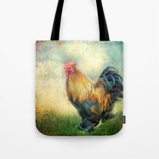The coloured rooster Tote Bag