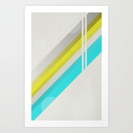 Retro graphic Art Print