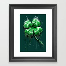 Melting Luck Framed Art Print