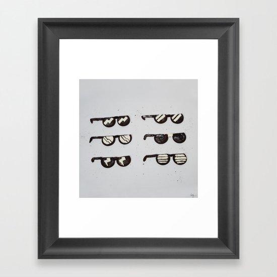 Oreo Sunglasses Framed Art Print