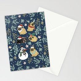 Christmas Pugs Stationery Cards