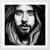 jared leto Art Prints featuring Jared Leto by KlarEm
