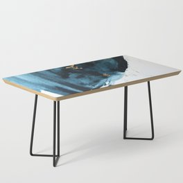 Sapphire and Gold Abstract Coffee Table