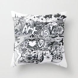 Art is Love Throw Pillow