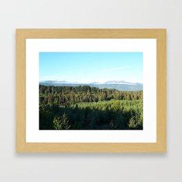 Mountain Cloud Framed Art Print