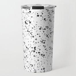 White with Black Splatter Travel Mug