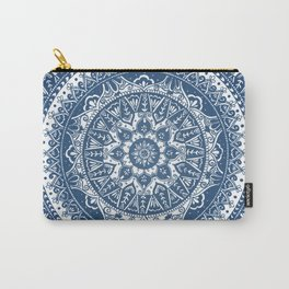 Blue Mandala Pattern Carry-All Pouch